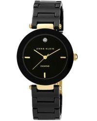Anne Klein - Round Ceramic Bracelet Watch - Lyst