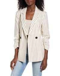 Vero Moda Nellilaja Stripe Blazer - Natural