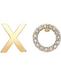 Estella Bartlett Xo Stud Earrings - Metallic