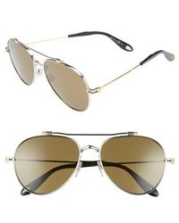 Givenchy - 58mm Polarized Aviator Sunglasses - Lyst
