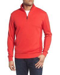 Bugatchi - Regular Fit Knit Quarter Zip Pullover - Lyst