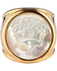 Asha Zodiac Mother-of-pearl Ring - Metallic