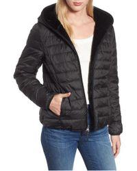 Marc New York - Reversible Packable Faux Fur Jacket - Lyst