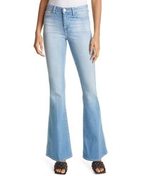 L'Agence Bell High Waist Flare Jeans - Blue