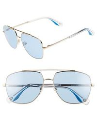 Marc Jacobs - 58mm Navigator Sunglasses - Pale/ Yellow - Lyst