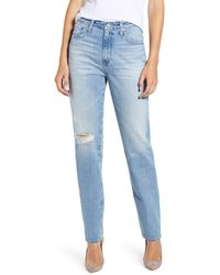 AG Jeans - The Phoebe Extended High Rise Slim Straight Leg Jeans - Lyst