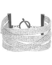 Steve Madden - Multistrand Crystal Bracelet - Lyst