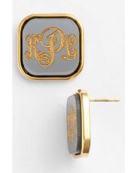 Moon & Lola   'vineyard' Personalized Monogram Stud Earrings   Lyst