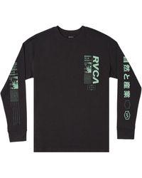 RVCA Futurist Long Sleeve Men's Graphic Tee - Black