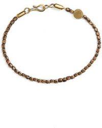 Caputo & Co. | Distressed Brass Beaded Bracelet | Lyst