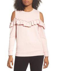 Kate Spade - Cold Shoulder Sweatshirt - Lyst