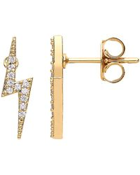 Estella Bartlett Crystal Lightning Bolt Stud Earrings - Metallic