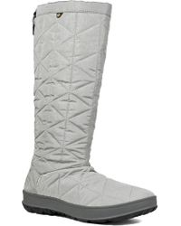 Bogs - Snowday Tall Waterproof Quilted Snow Boot - Lyst