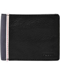 Fossil Elgin Leather Id Wallet - Black