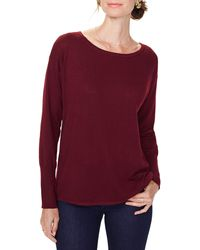 NYDJ Button Back Sweater - Red