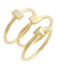 Elise M Kai Set Of 3 Geometric Rings