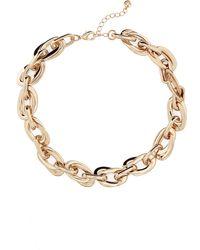 Halogen Halogen Double Link Collar Necklace - Metallic