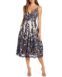 Eliza J - Lace Pleat Cocktail Dress - Lyst
