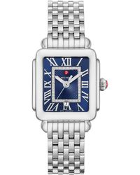 Michele Deco Madison Diamond Dial Watch Head & Bracelet - Blue