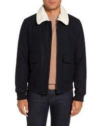 Michael Kors - Fleece Collar Wool Blend A-2 Jacket - Lyst