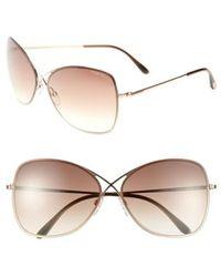Tom Ford - 'colette' 63mm Oversize Sunglasses - - Lyst