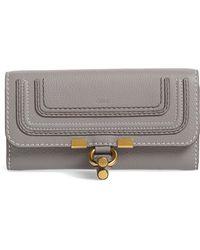 Chloé - Marcie - Long Leather Flap Wallet - Lyst