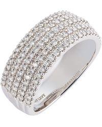 Bony Levy Varda Five-row Diamond Ring (nordstrom Exclusive) - Metallic