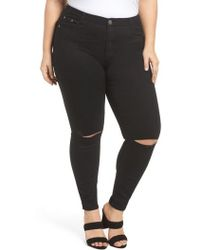 Glamorous - Ripped Skinny Jeans - Lyst