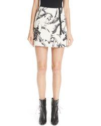 Adam Lippes - Horse Print Faux Wrap Miniskirt - Lyst