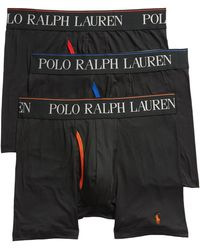Polo Ralph Lauren 4d 3-pack Boxer Briefs, Black