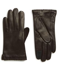 Frye Nora Whipstitch Lambskin Leather Touchscreen Gloves - Multicolour