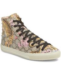 Gucci Major Tiger High Top Sneaker - Multicolour