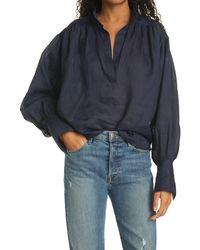 FRAME Emma Pullover Shirt - Blue