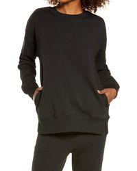 Zella Amazing Crewneck Sweatshirt - Black
