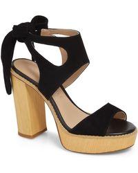 Very Volatile Ginsy Tie Back Platform Sandal - Black
