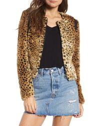 Tinsel Faux Fur Leopard Jacket - Multicolor