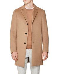 Reiss Gable Wool Epsom Coat - Natural