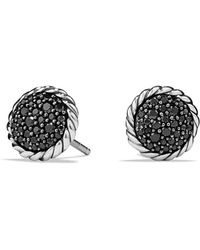 David Yurman - 'chatelaine' Pave Earring With Black Diamonds - Lyst