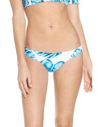 Pilyq - Ruched Teeny Bikini Bottoms - Lyst