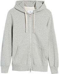 Reigning Champ Trim Fit Full Zip Hoodie - Gray