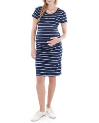Everly Grey - 'camila' Stripe Maternity Dress - Lyst