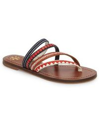 05ead5b3e359 Tory Burch - Patos Embroidered Thong Sandal - Lyst