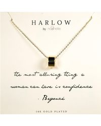 Nashelle Harlow By Confidence Boxed Necklace - Metallic