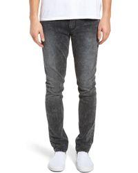 PAIGE - Transcend Croft Acid Wash Skinny Fit Jeans - Lyst