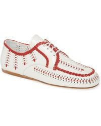 Prada Lace-up Loafer - Red