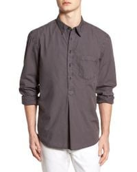 French Connection - Regular Fit Garment Dyed Poplin Sport Shirt - Lyst