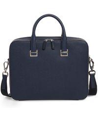 Dunhill Cadogan Leather Double Document Case - Blue