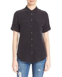 Equipment - Slim Signature Short Sleeve Silk Shirt - Lyst