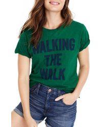 J.Crew - Walking The Walk Tee - Lyst