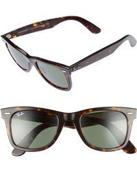 Ray-Ban - 'classic Wayfarer' 50mm Sunglasses - - Lyst